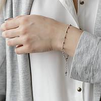 Серебряный браслет-четки (размер 20.5), фото 1