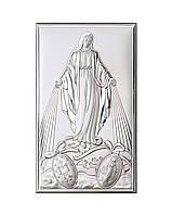 """Икона серебряная """"Матерь Божья Непорочного Зачатия"""" (12x20см) 81322 4XL"""
