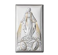 """Икона серебряная """"Матерь Божья Непорочного Зачатия"""" (12х20см) 81322 4XLORO"""