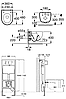 ROCA  Комплект: MERIDIAN-N подвесной унитаз,сиденье твердое slow-closing, PRO инсталляция для унитаза, PRO, фото 2