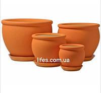 Вазон керамический Вьетнам №4 оранж шелк 1.4л