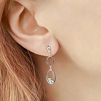 """Срібні сережки з цирконієм """"Flamenco"""", фото 1"""
