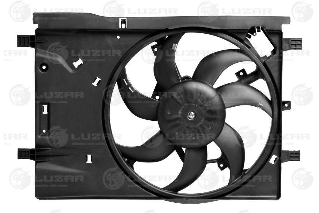 Электровентилятор охлаждения с кожухом Opel Corsa D (06-) (LFK 2112) Luzar 51797135 1341395 1341397 55702497