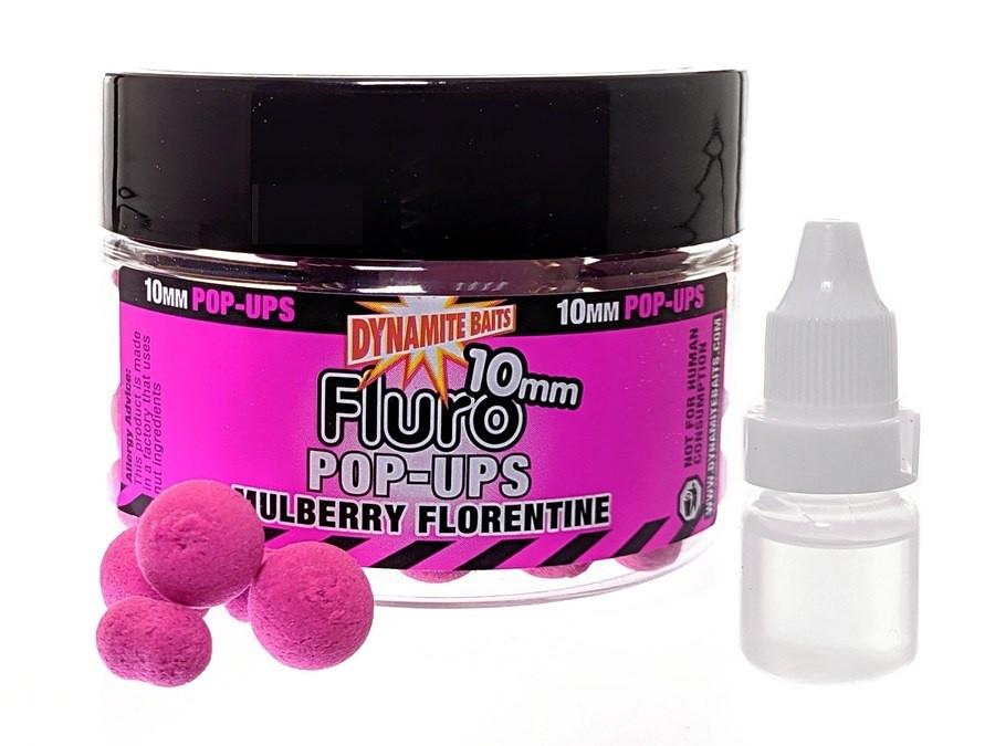 Бойлы DYNAMITE BAITS Mulberry Florentine Fluro Pop-Up 15mm