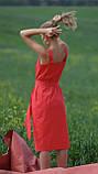 Сарафан летний на бретельках, планка с застежкой, пояс в комплекте 3 цвета, р.50,52,54 код 007И, фото 8
