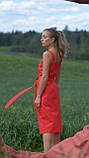 Сарафан летний на бретельках, планка с застежкой, пояс в комплекте 3 цвета, р.50,52,54 код 007И, фото 9