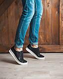Кеди кросівки чоловічі шкіряні чорні, фото 4