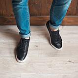 Кеди кросівки чоловічі шкіряні чорні, фото 3