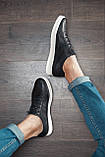 Кеди кросівки чоловічі шкіряні чорні, фото 2