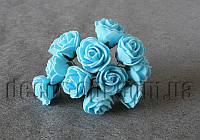 Букет голубых розочек из латекса 2,5-3,0 см