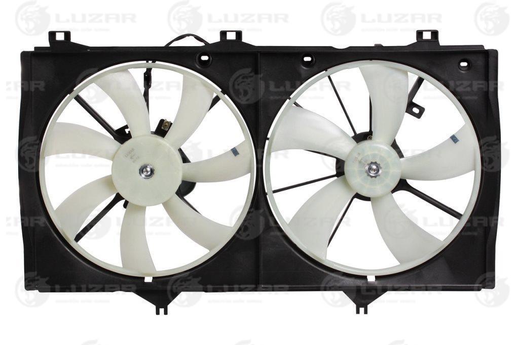 Электровентиляторы охлаждения с кожухом (2 вент.) Toyota Camry (07-) 2.4i LFK 1918 Luzar 1636128180 1671128300