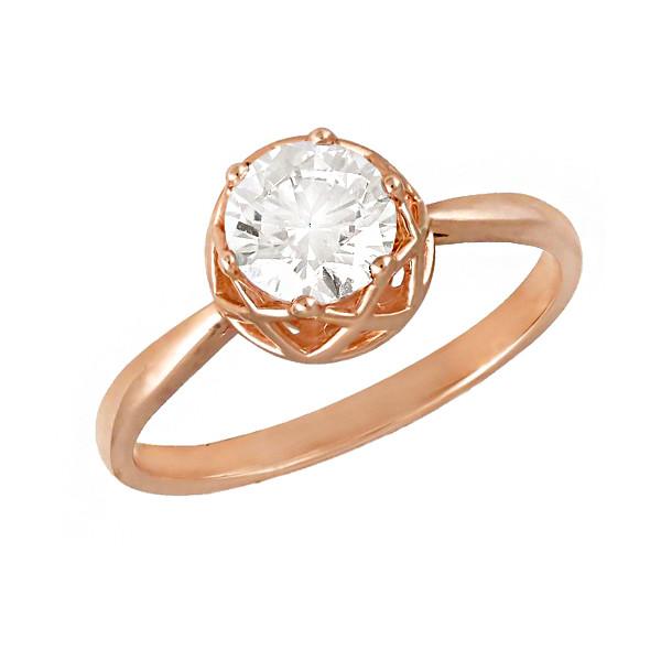 Золотое кольцо  с фианитом 112931