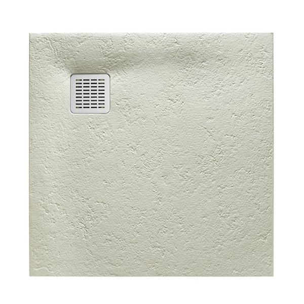 ROCA TERRAN поддон 90*90см, из искусств. камня, ультраплоский, цвет цемент