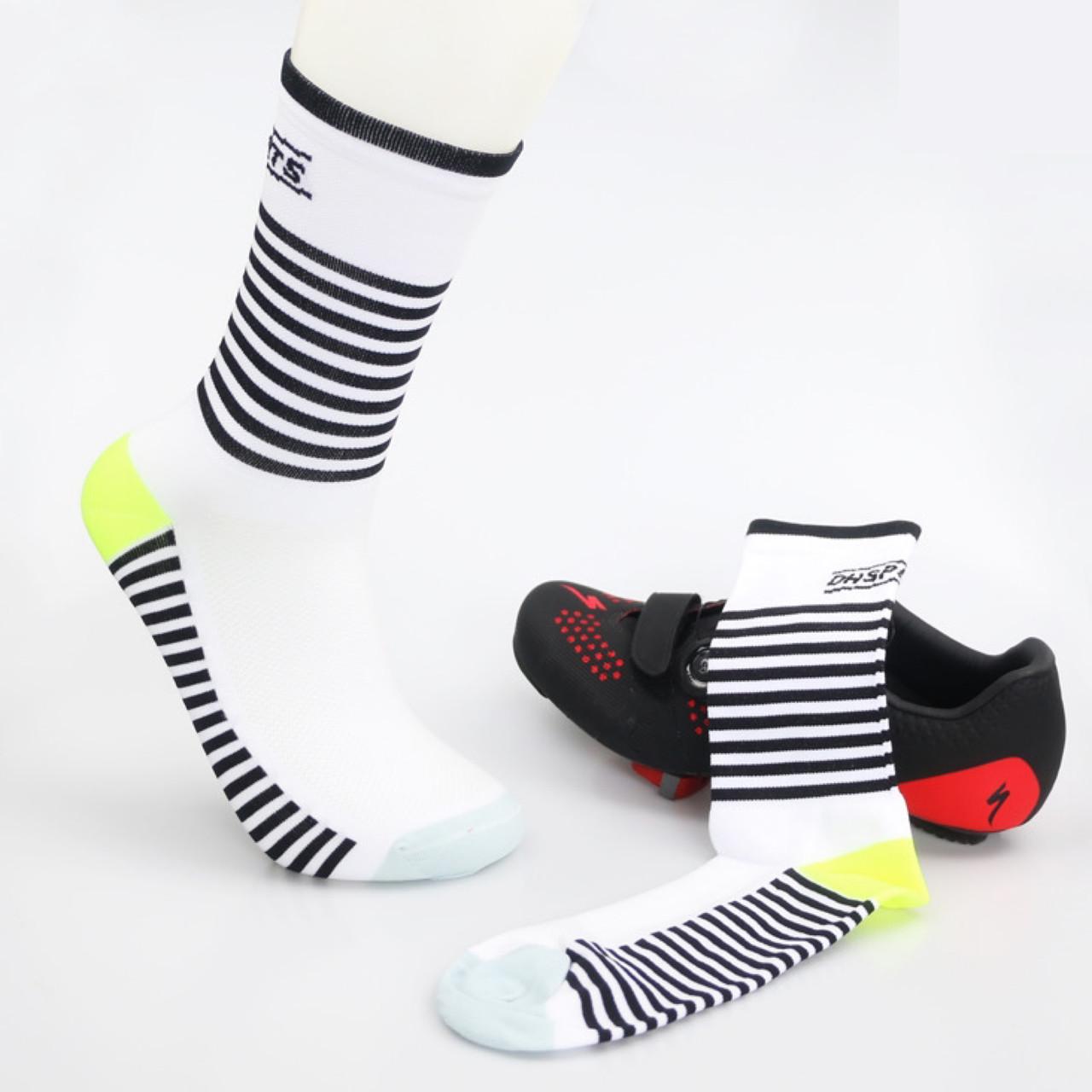 Компрессионные носки для велоспорта DH Sports Line для мужчин и женщин (черно-белый)