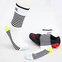 Компрессионные носки для велоспорта DH Sports Line для мужчин и женщин (черно-белый), фото 1