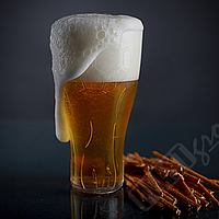 Опт! Бокал для Пива 500 мл из пластика 16.5х9.5 см, (Ящик 60 шт) Прозрачный