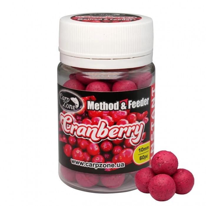 Бойлы насадочные Клюква CarpZone ?ranberry Method & Feeder Series Instant 10mm, банка 60 шт