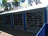 Шатер 6х12 PE полипропилен, торговый павильон, садовая палатка, тент, ангар, гараж, намет, зонт с окнами, фото 6