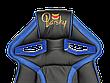 Кресло для врача Barsky SD-06 Sportdrive Gam, черный / синийe Blue, фото 4