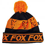 Шапка Fox Black/Orange Lined Bobble Hat, фото 2