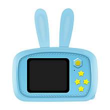 Цифровой фотоаппарат для детей Smart Kids Camera 3 (Голубой Заяц), 20мп