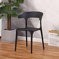 Штабелируемый стул Пауль РAUL черный монопластик для кафе