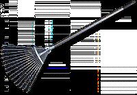 Грабли для сада веерные, регулируемые, металлические, KT-W120-1 Польша