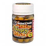 Бойлы насадочные Мед CarpZone Honey Method & Feeder Series Instant 10mm, банка 60 шт, фото 3