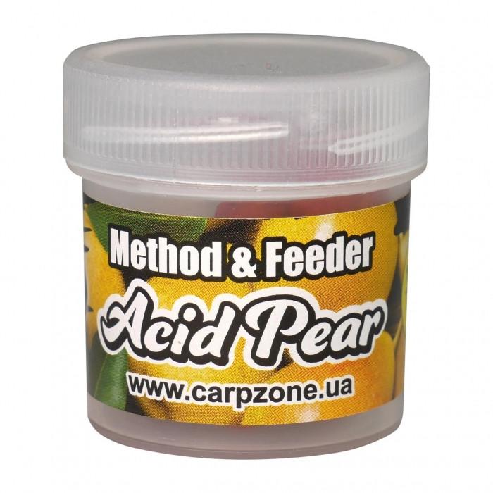 Бойлы пробник насадочные растворимые Кислая Груша CarpZone Acid Pear Boilies Method & Feeder Series Soluble 10mm, банка 15 шт