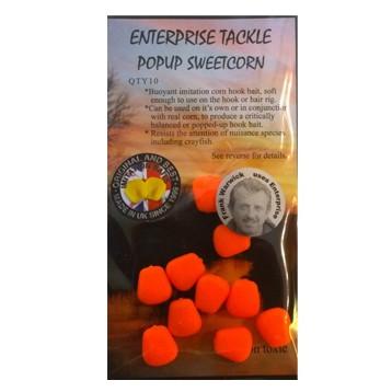 Плавающая искусственная кукуруза оранжевая флюоресцентная Enterprise Tackle Pop Up Sweetcorn Fluoro Orange