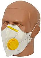 Респиратор Микрон FFP2 Белый с желтым есть оплата с НДС (RI0690)