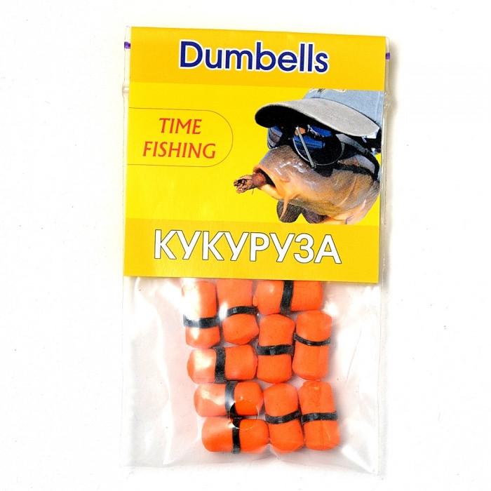 Бойлы насадочные растворимые Кукуруза Time Fishing Corn Dumbells, 10 шт