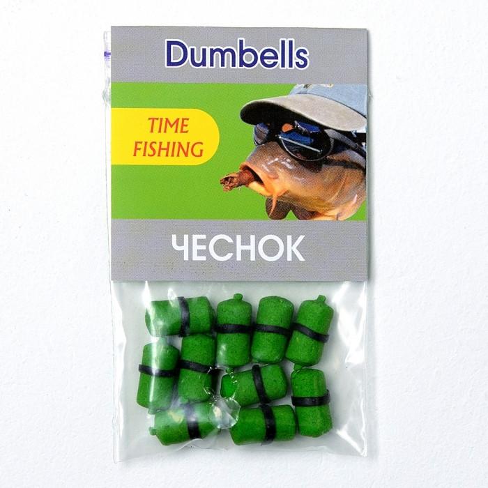 Бойлы насадочные растворимые Чеснок Time Fishing Garlic Dumbells, 10 шт