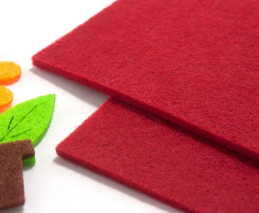 Плотный фетр 3мм толщина, 20х30см mz Цвет - Красный