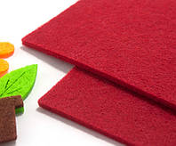 Плотный фетр 3мм толщина, 20х30см mz Цвет - Красный, фото 1