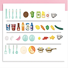 Детская большая детская с холодильником Звуковые и световые эффекты (39 предметов) Вода,холодный пар (2 цвета), фото 3