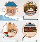 Детская большая детская с холодильником Звуковые и световые эффекты (39 предметов) Вода,холодный пар (2 цвета), фото 4