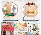 Детская большая детская с холодильником Звуковые и световые эффекты (39 предметов) Вода,холодный пар (2 цвета), фото 5