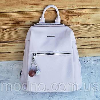 Женский стильный городской рюкзак пудрового цвета Velina Fabbiano