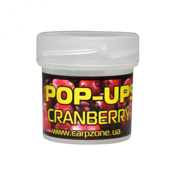 Поп-ап пробник Клюква CarpZone ?ranberry Pop-Ups Fluro, банка 15 шт