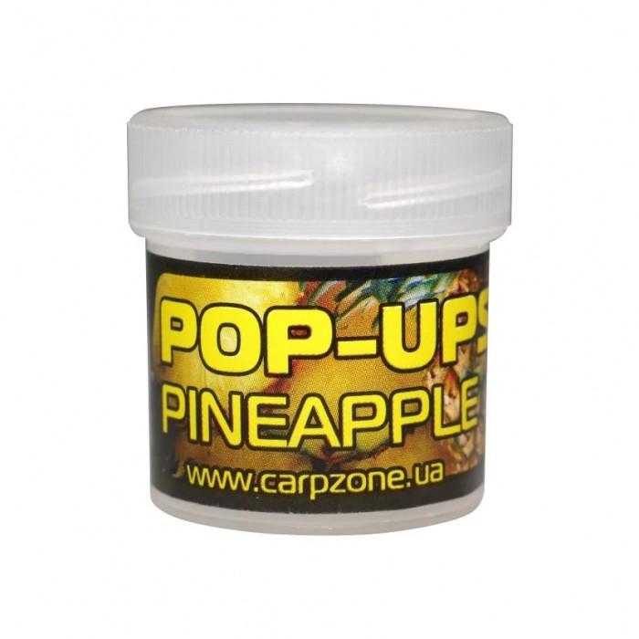 Поп-ап пробник Ананас CarpZone Pineapple Pop-Ups Fluro, банка 10 шт