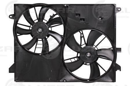 Электровентиляторы с кожухом (2 вент.) Chevrolet Captiva/Opel Antara (06-) (LFK 0543) LUZAR  96629064 4805186