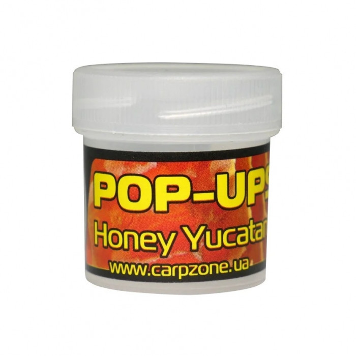 Поп-ап пробник Мед Юкатан CarpZone Honey Yucatan Pop-Ups Fluro, банка 10 шт