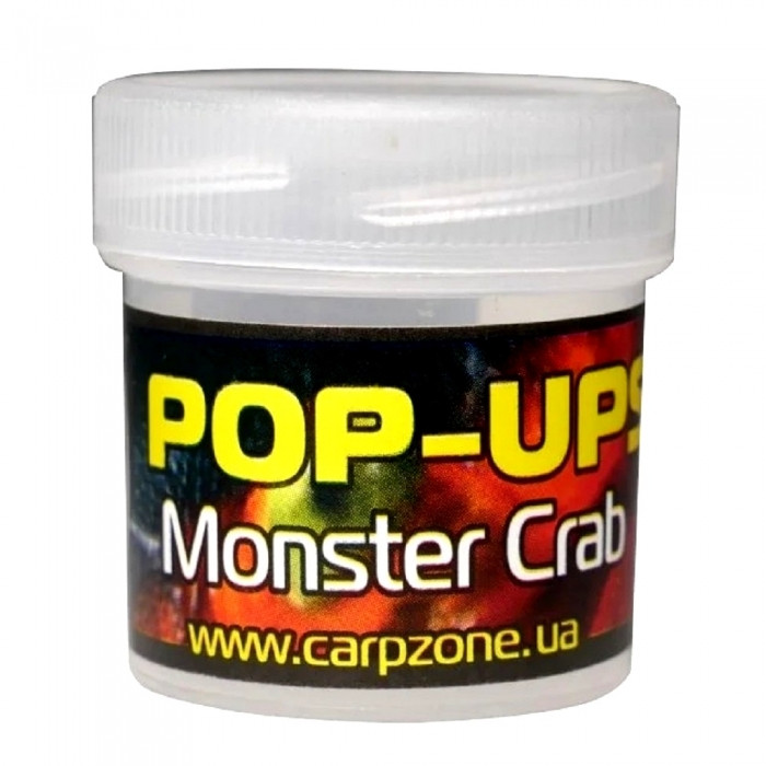 Поп-ап пробник Монстр Краб CarpZone Monster Crab Pop-Ups Fluro, банка 15 шт