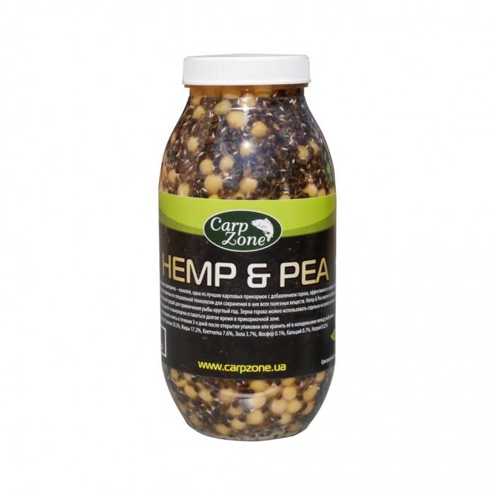 Готовая конопля и горох CarpZone Hemp & Pea, 1л