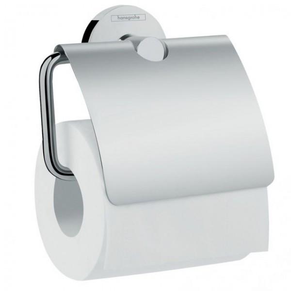 HANSGROHE  Logis Держатель туалетной бумаги, с крышкой, хром
