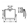 HANSGROHE  Logis Набор аксессуаров: крючок двойной, диспенсер, держатель туалетной бумаги, стакан, туалетная щётка, фото 5