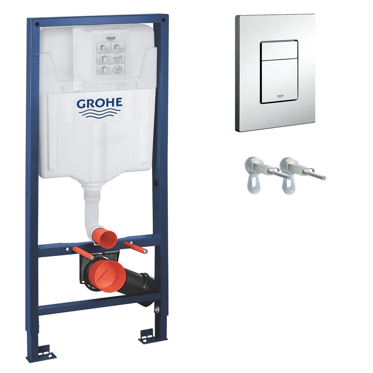 GROHE  Rapid SL Инсталяционная система для подвесного унитаза 3 в 1(аналог-38775001)  БЕЗ ПРОКЛАДКИ