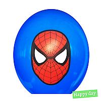 "Гелієва куля 12"" (30 см) Спайдермен / Людина Павук маска на синьому (1шт.)"