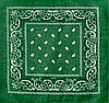 Классическая бандана, 55*55 см, зеленый